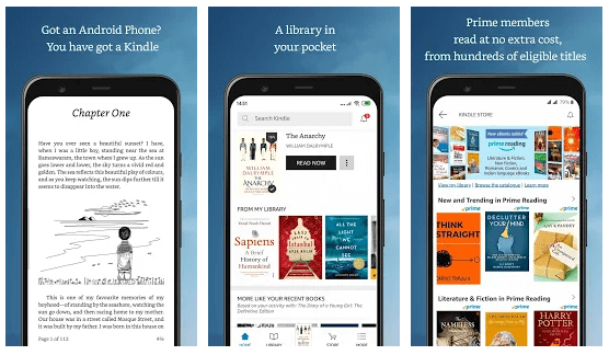 Amazon eBook reader for android