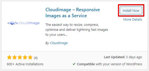 Cloudimage.io wordpress plugin