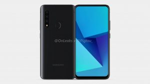 the leaked images of new Samsung smartphone with pop-up camera