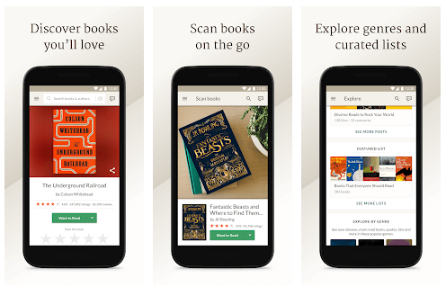 Goodreads eBook reader for Anrdoid