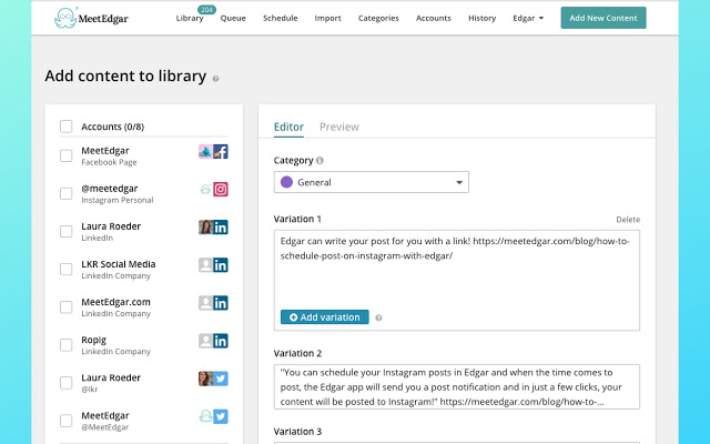 MeetEdgar is a barebones social media scheduling tool with some tricks up its sleeve.