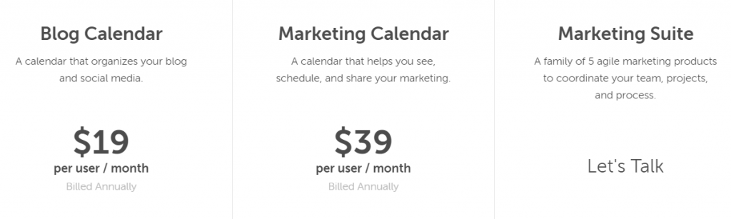 pricing starts at $19 per month