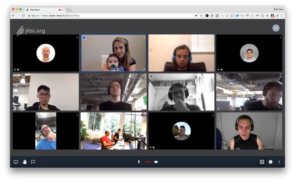 Jitsi Meeting is an free video-conferencing application.