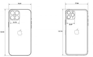 iPhone 12 rear dimensions