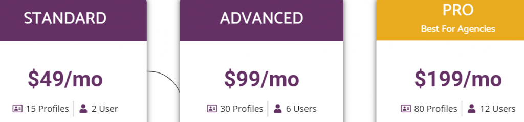 pricing starts at $49 per month