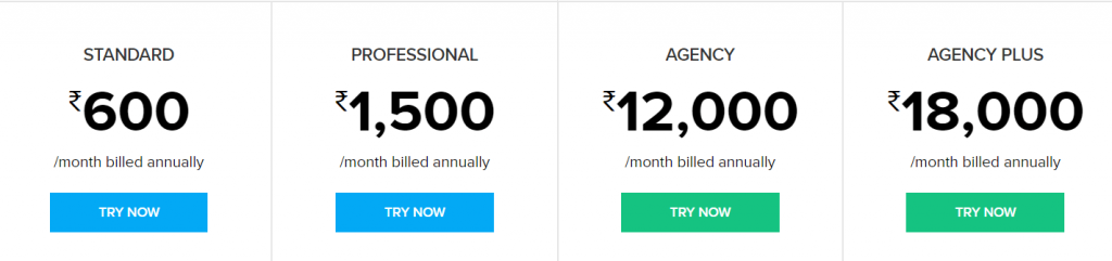 pricing starts at Rs. 600 per month