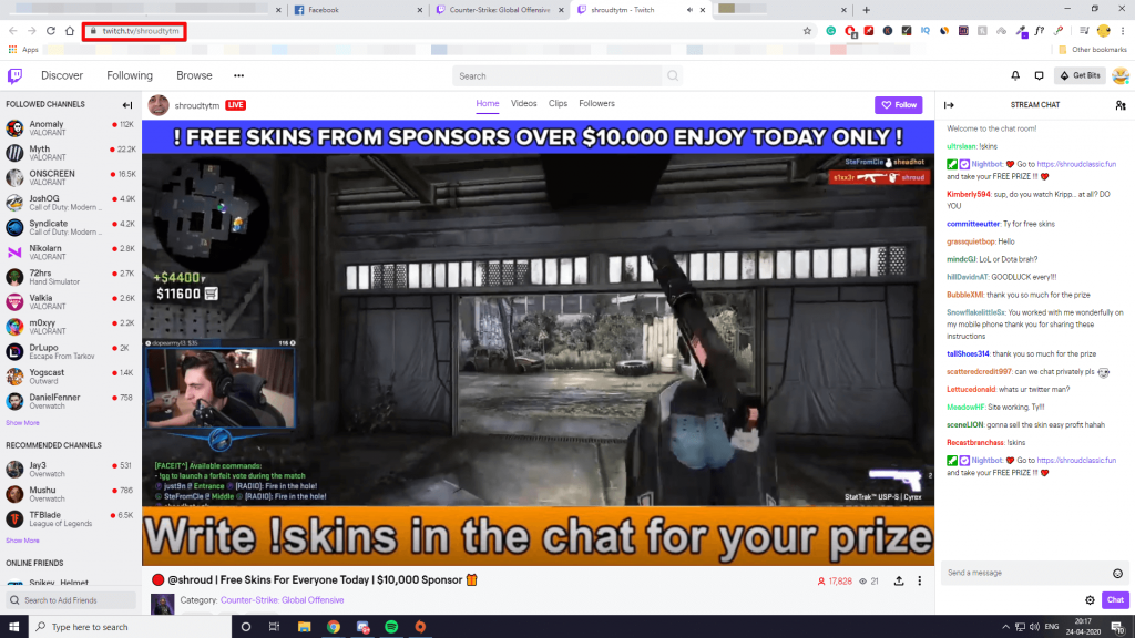 fake shroud on twitch