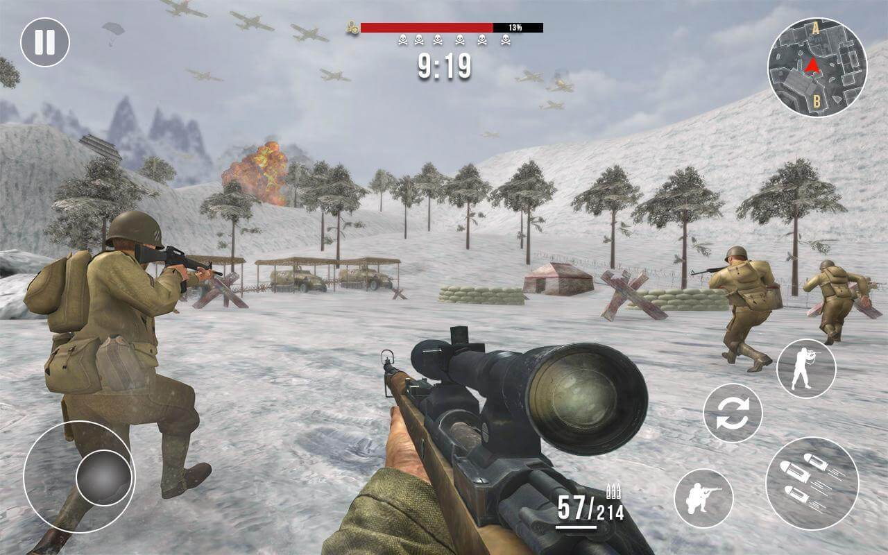 world war heroes game is one of the best mobile game