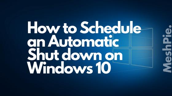 Automatic Shutdown cover
