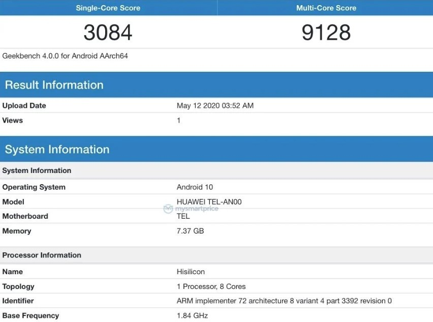 Honor was found testing its latest smartphone X10 5G on geekbench