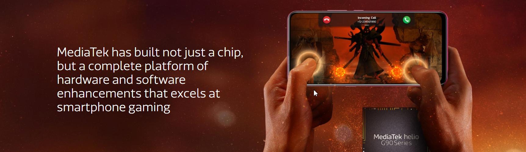 MediaTek's new G90 series chipset.
