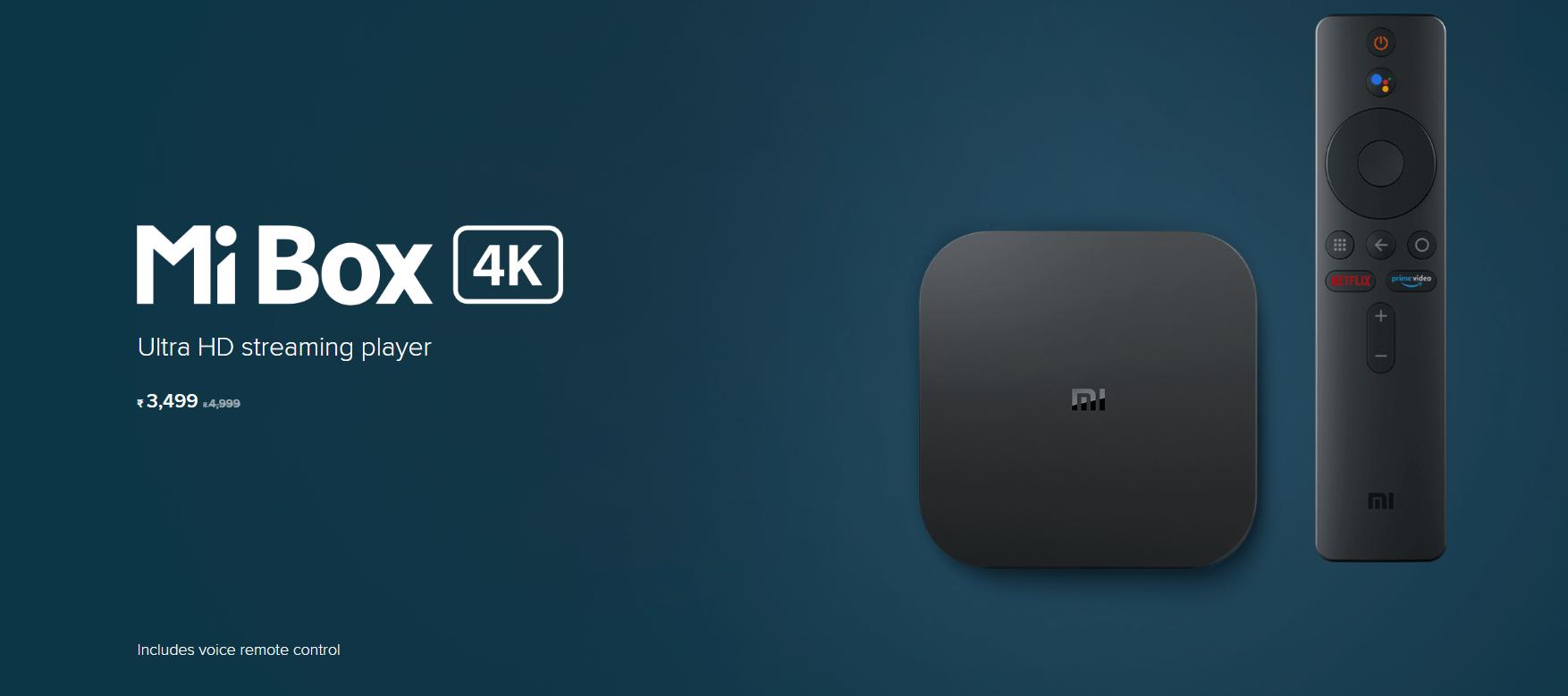 Xiaomi has launched its new Mi Box 4K