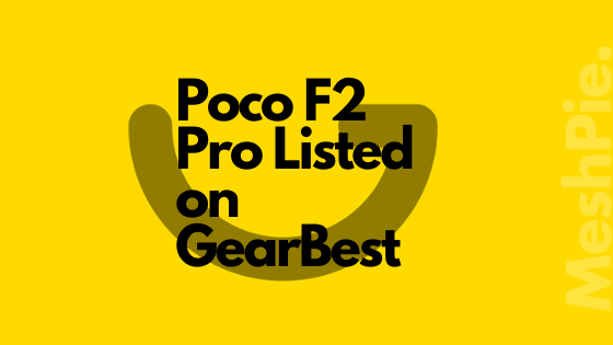 Poco has listed its latest smartphone on GearBest website
