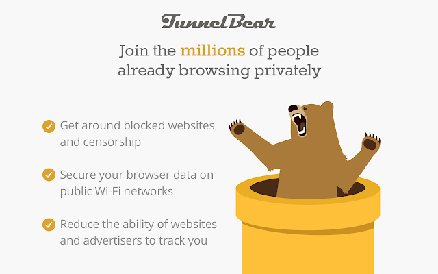 TunnelBear VPN is one of the best free VPN extensions for Chrome.