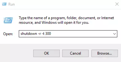 Automatic Shutdown via Run