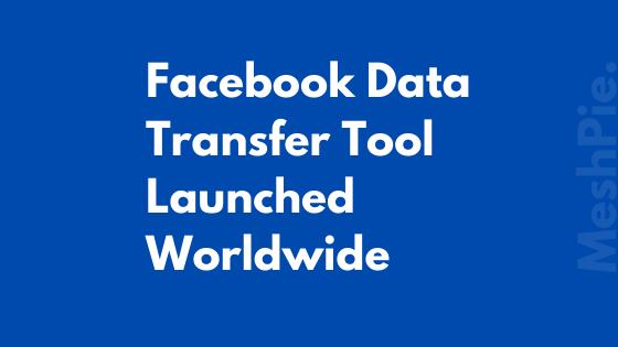 Facebook-Data-Transfer-Tool