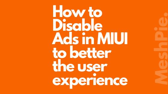 ad blocker disable in mi