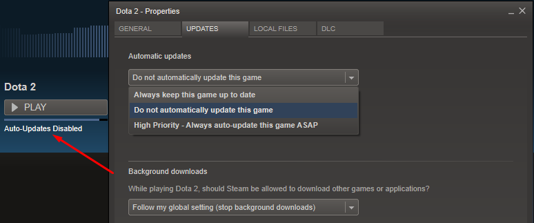 steam settings for optimization of system.