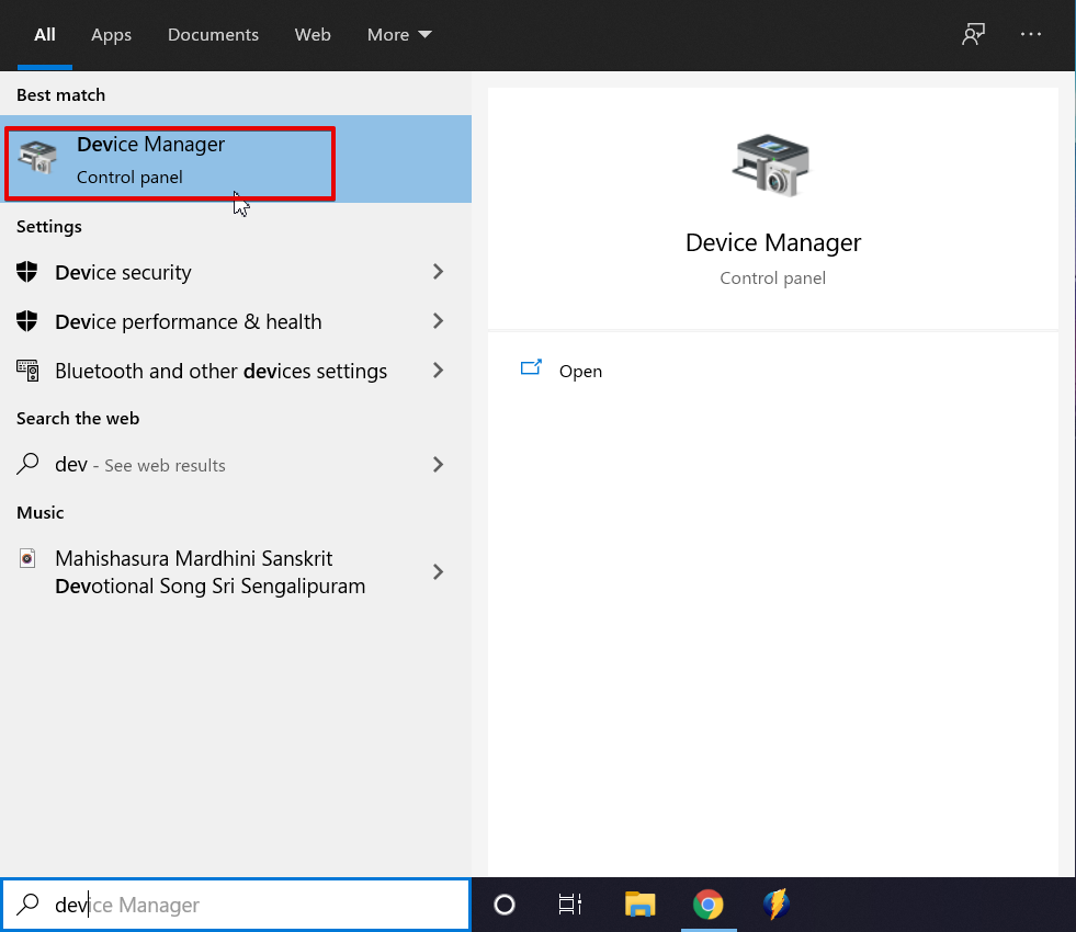 Image showing how to head over to device manager