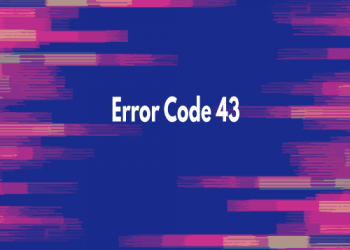 Image showing error code 43
