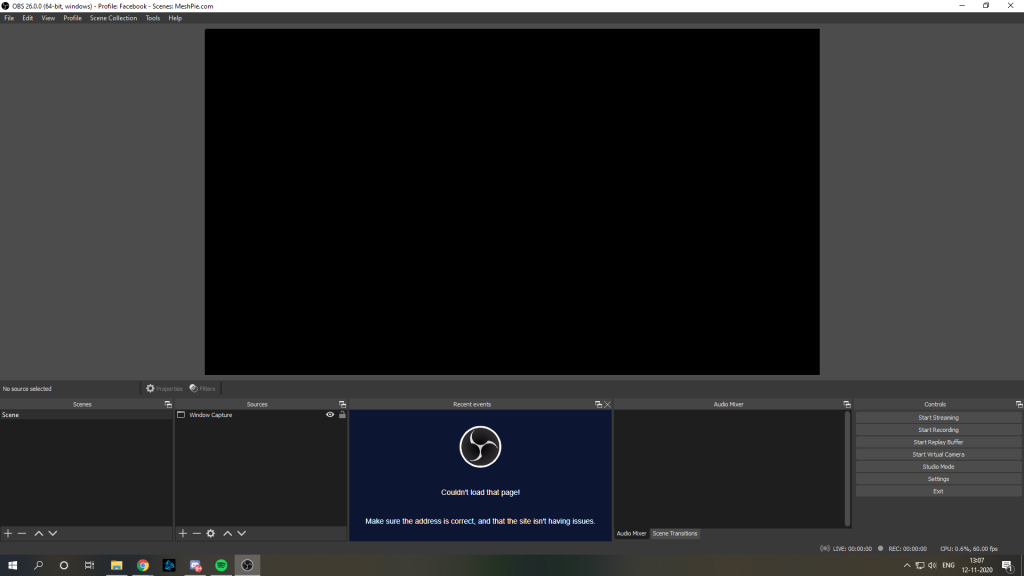 Obs black screen window capture fix