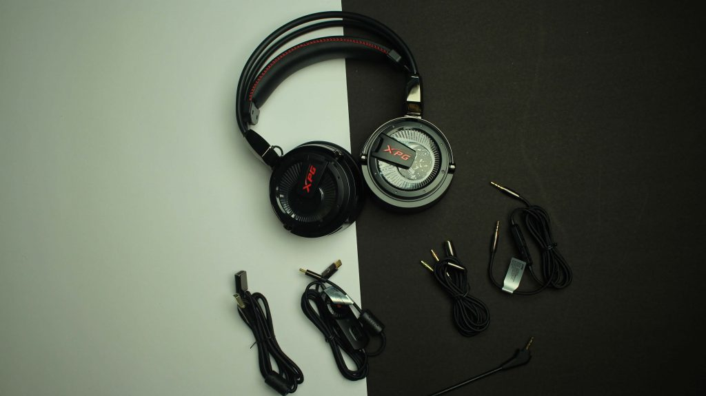 XPG Precog gaming headphones contents