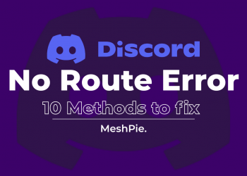 How to fix discord no route error