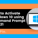 How to activate windows via command prompt